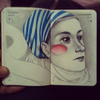 Mini moleskine drawing 4 by LadyOrlandoArt