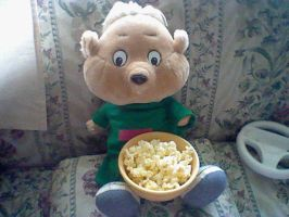 Theodore having some popcorn by GothicTaco198