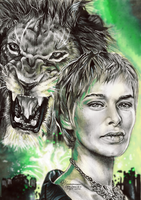 Cersei Lannister Hear Me Roar by FreedomforGoku