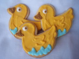 Rubber Duck Cookies by eckabeck