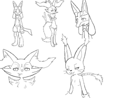 Some doodles by Pokecrz
