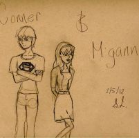 Miss Martian and Superboy by PNGW1N
