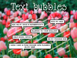 Text Bubbles by LudShip13 by LudShip13