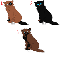 Adoptables kittens 1  -CLOSED- by Ravenstar01