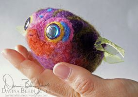 Purple Pufferfish by FamiliarOddlings