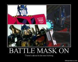Optimus Prime Battle Masks by GarnetWings