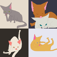 cats collage by LVL80Catlady