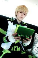 Dramatical Murder - Noiz and Usagimodoki play game by HappyManga