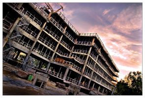 Building in construction by BeDd