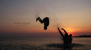 Fun, Somersaults in the water by MonaMoore