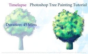 Photoshop Tree Painting Tutorial+Brushes by SaucerQueen