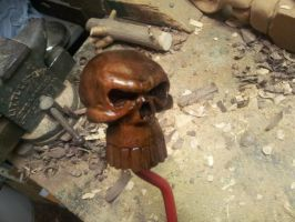 Mahogany Skull Shift Knob by jbensch