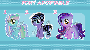 My little pony - Fish inspired ADOPTABLES by chunk07x