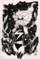 Ms. Marvel backer board sketch by MichaelDooney