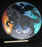 Wolf Element Drum Commission by Shadowind