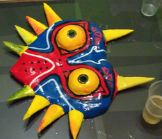 Majoras Mask WIP by MonkeyHeartless