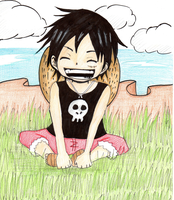 Luffy de Peque/Luffy child by Mitsukichan17