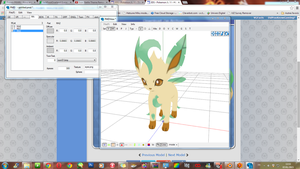 WIP MMD rigging - Pokemon XY - Leafeon by JackFrostOverland