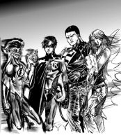 Teen Titans, true friends... by StevenVnDoom