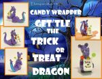 Candy Wrapper - Get'tel the Trick or Treat Dragon by MalaCembra