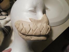 Mask unfinished right side view 2 by AFKBrandy