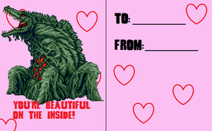 Valentines Day Card 2014 1/6 by Burninggodzillalord