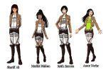 Attack on Titan OCs(fanfic female cast) by SoulReaperlady