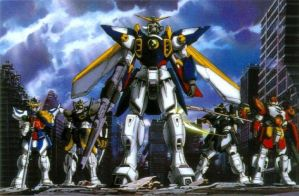 Gundam Wing The Whole Grp by Anime-Guru
