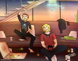 Thor and Tony Bros - part 2 by blargberries