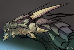 Dragon head by el-grimlock