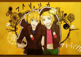 Matryoshka : Kagamine twins by Xsaye