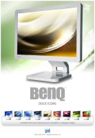 BenQ LCD Monitor Dock Icons by deadPxl