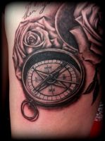 Compass realistic detailed Tattoo by Slabzzz