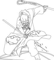 Hidan Lineart by CrypticRiddlers