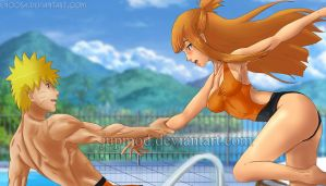 NaruSasame: Fun Pool Dip Together by JuPMod