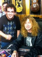 me and Dave Mustaine by kbyyru