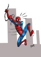 Spidey sketch, spidey sketch.. by wordmongerer