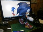 Sonic The Hedgehog Papercraft (b) by Esteban1988