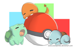 Pokemon Starter Mini Print by AsianPanties