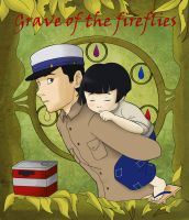 Art Noveau: Grave of the fireflies by Snowflake-owl