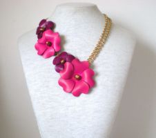 Flora Necklace by RetroRevivalBoutique