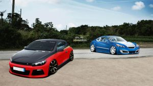 VW Scirocco ft Hyundai Genesis by ClaudaoCLD