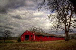 Old Red Barn II HDR by joelht74