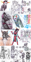 Sketch dump 23 feat.Homestuck by Naikoworld