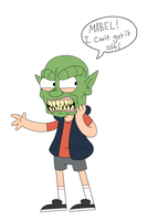 Gravity Falls x Goosebumps Crossover- Haunted Mask by itsaaudra