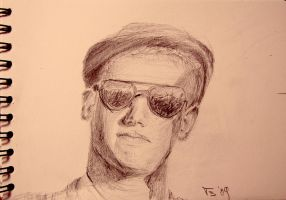 Boy With Sunglasses by tombru