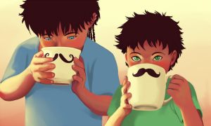 Moustaches by Lolryne