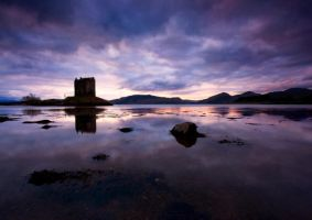 Twilight at Castle Stalker by ArwensGrace