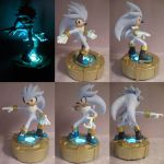 Silver the Hedgehog LED Light by Archaedin