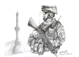 Marine in Fallujah by Simple-Machine